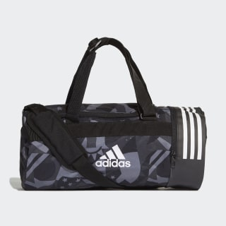 3-Stripes Convertible Graphic Duffel Bag Small Black / White / White DT8654
