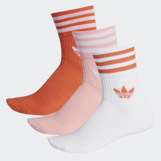 Ponožky Mid-Cut Crew Glory Amber / Glory Pink / White FM0638