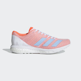 Adizero Boston 8 Shoes Cloud White / Glow Blue / Solar Orange F34060