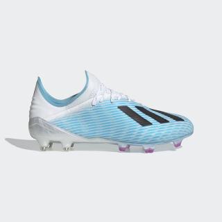 Calzado de Fútbol X 19.1 Terreno Firme Bright Cyan / Core Black / Shock Pink F35316
