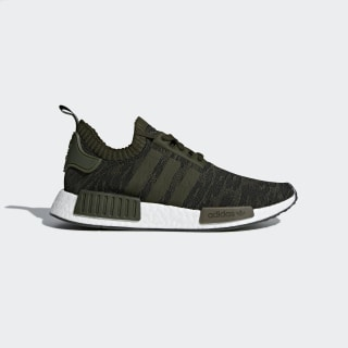 NMD_R1 Primeknit Shoes Night Cargo/Night Cargo/Hi-Res Green CQ2445