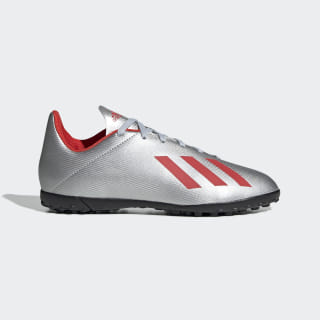 Calzado de Fútbol X 19.4 Césped Artificial Silver Metallic / Hi-Res Red / Cloud White F35348