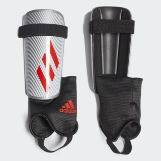X Club Shin Guards Silver Metallic / Hi-Res Red / Black DY0088