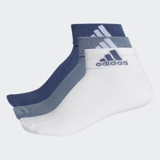 Meias Ankle Mid Thin - 3 Pares NOBLE INDIGO S18/WHITE/RAW STEEL S18 CF7368