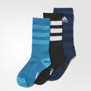 Medias Young Athletes Graphic (3 Pares) BLUE NIGHT F17/BLACK/MYSTERY PETROL F17 CD2860