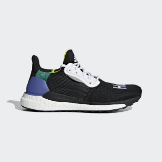 Pharrell Williams x adidas Solar Hu Glide ST Shoes Core Black / Ftwr White / Bright Cyan CG6736