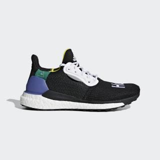 Pharrell Williams x adidas Solar Hu Glide ST Skor Core Black / Ftwr White / Bright Cyan CG6736
