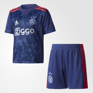 Ajax Amsterdam Away Mini Kit Dark Blue/Bold Red AZ7879