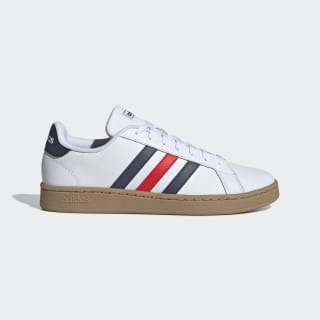 Grand Court Schuh Cloud White / Trace Blue / Active Red EE7888