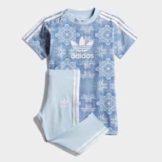 CULTURE CLASH TEE DRESS SET Blue / Clear Sky / White DV2327