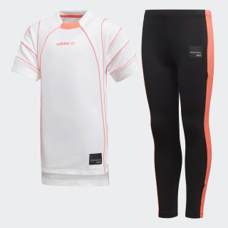 Conjunto EQT Dress WHITE/TURBO BLACK/TURBO F11 D98878