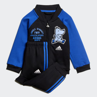 Baseball Fleece Jogger Set Black / Blue ED1137