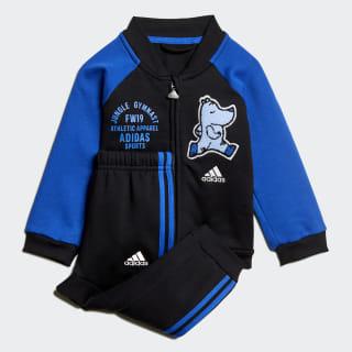 Спортивный костюм Baseball Fleece Black / Blue ED1137