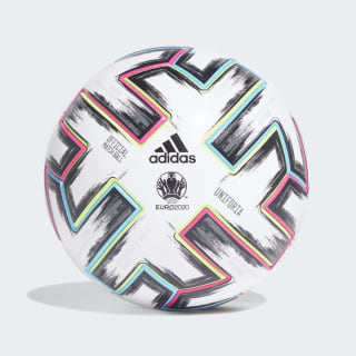 Uniforia Pro Voetbal White / Black / Signal Green / Bright Cyan FH7362