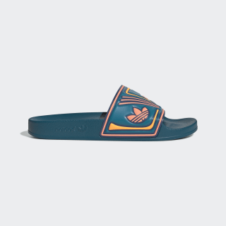 Adilette Slides Active Teal / Tech Ink / Semi Coral EE6179