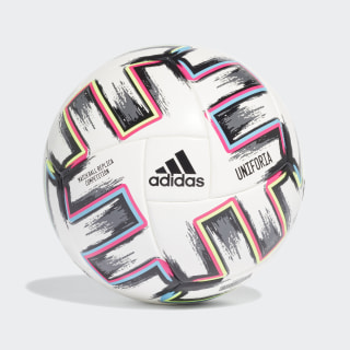 Футбольный мяч Uniforia Competition White / Black / Signal Green / Bright Cyan FJ6733
