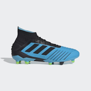 Predator 19.1 Firm Ground Cleats Bright Cyan / Core Black / Solar Yellow F35606