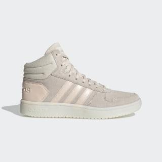 Высокие кроссовки Hoops 2.0 Mid linen / linen / ftwr white EE7894