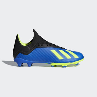 Calzado de Fútbol X 18.3 Terreno Firme Niño FOOTBALL BLUE/SOLAR YELLOW/CORE BLACK DB2416