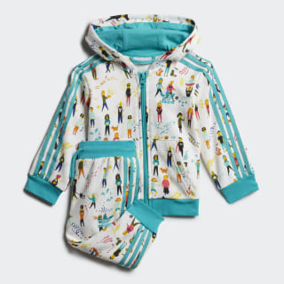 Комплект: толстовка и брюки Multicolor / Hi-Res Aqua ED7706