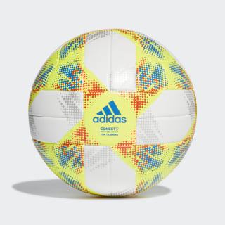 Conext 19 Top Trainingsball White / Solar Yellow / Solar Red / Football Blue DN8637
