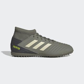 Calzado De Fútbol Para Pasto Sintético Predator 19.3 J Legacy Green / Sand / Solar Yellow EF8220