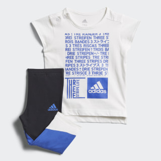 Conjunto Legging Mini Me WHITE/HI-RES BLUE S18 BLACK/HI-RES BLUE S18/WHITE DJ1564
