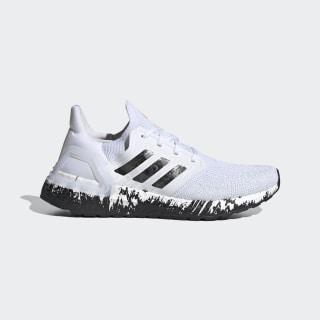 Sapatos Ultraboost 20 Cloud White / Core Black / Signal Coral EG1370