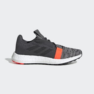 Senseboost GO Shoes Grey Six / Core Black / Solar Red EE4031