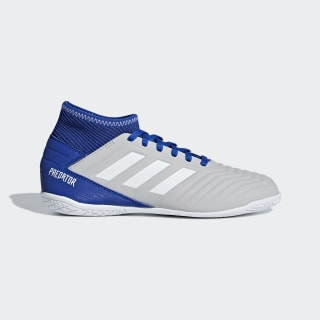 Chuteira Predator Tango 19.3 Futsal Grey Two / Cloud White / Bold Blue CM8545