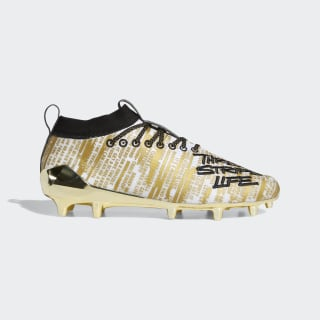 Snoop Dogg Adizero 8.0 Cleats Cloud White / Core Black / Gold Metallic EG2449