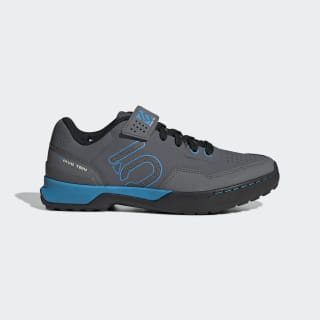 Five Ten Mountain Bike Kestrel Lace Shoes Grey / Shock Cyan / Core Black BC0770