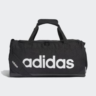 Linear Logo Duffel Bag Black / Black / White FL3693