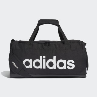 Taška Linear Logo Duffel Black / Black / White FL3693