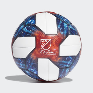 MLS Official Match Football White / Silver Met. DN8698
