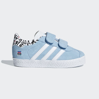 Tênis Gazelle CF CLEAR BLUE/FTWR WHITE/CLEAR BLUE B37216