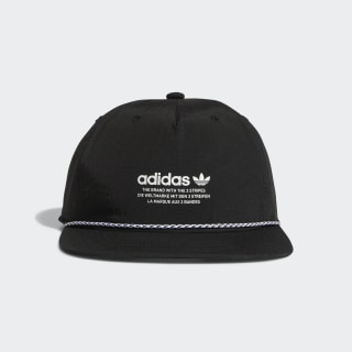 Deconstructed Rope Strap-Back Relaxed Hat Black CK5003