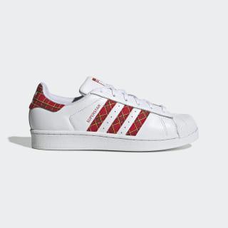 Superstar Shoes Cloud White / Scarlet / Collegiate Green FU7446