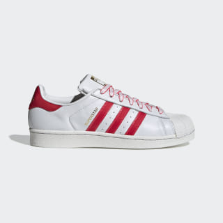 Chaussure Superstar Crystal White / Shock Red / Scarlet G27571