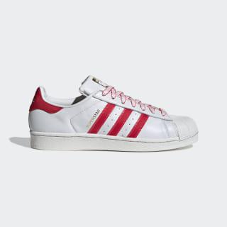 Superstar Schuh Crystal White / Shock Red / Scarlet G27571