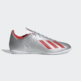 Chuteira X 19.4 - Futsal silver met. / hi-res red s18 / ftwr white F35340