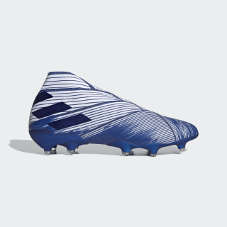 Botas de Futebol Nemeziz 19+ – Piso firme Cloud White / Team Royal Blue / Team Royal Blue EG7323