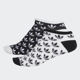 Trefoil Liner Socks 2 Pairs Black / White DV1906