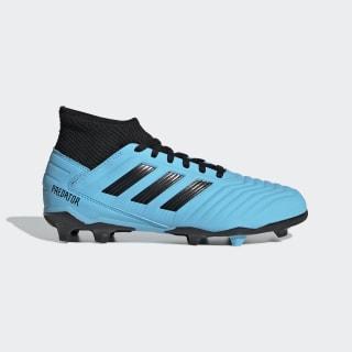 Botas de Futebol Predator 19.3 – Piso firme Bright Cyan / Core Black / Solar Yellow G25796