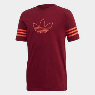 Outline T-shirt Collegiate Burgundy / App Solar Red FM4458