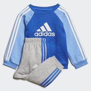 Флисовый комплект: свитшот и брюки Logo blue / white ED1159