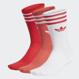 Crew Socks 3 Pairs Lush Red / Still Orange / White FM0623
