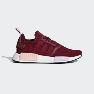 NMD_R1 Shoes Collegiate Burgundy / Collegiate Burgundy / Clear Orange B37646