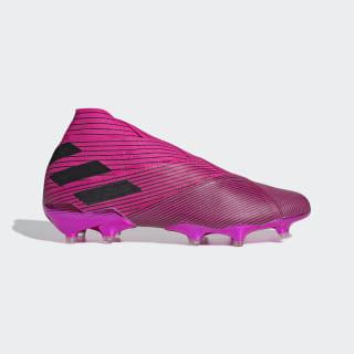 Bota de fútbol Nemeziz 19+ césped natural seco Shock Pink / Core Black / Shock Pink F34403