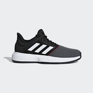 GameCourt Shoes Core Black / Cloud White / Shock Red CG6334